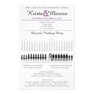 Simple Silhouettes Wedding Program Flyer-8 Flyer