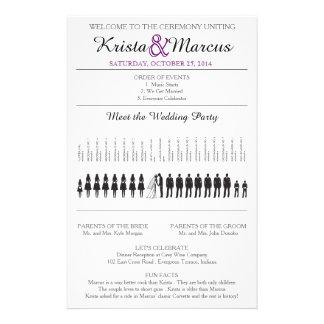 Simple Silhouettes Wedding Program Flyer-9 14 Cm X 21.5 Cm Flyer