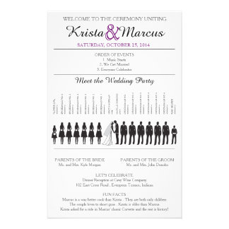Simple Silhouettes Wedding Program Flyer-9 Flyer