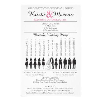 Simple Silhouettes Wedding Program Flyer-w 14 Cm X 21.5 Cm Flyer
