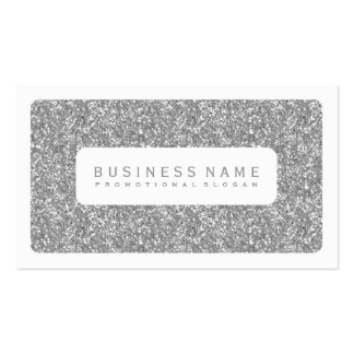 Simple Silver Glitter Pack Of Standard Business Cards