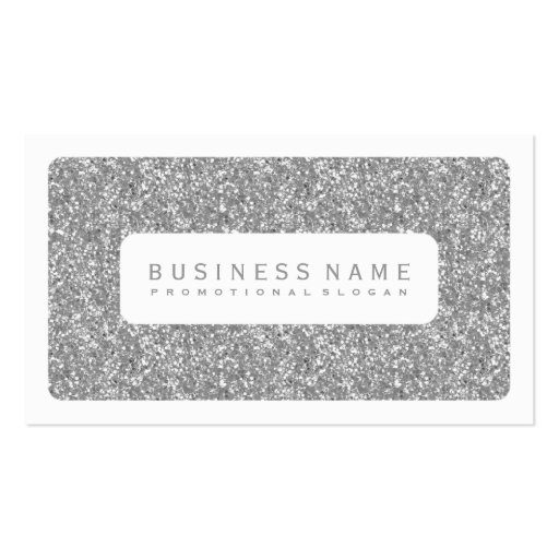 Simple Silver Glitter Business Card Template