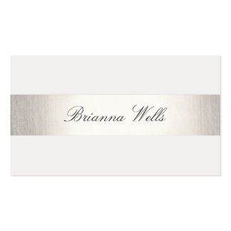 Simple Silver Striped Formal Name Networking Business Card Template