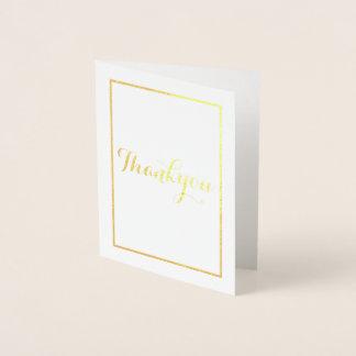 simple single line foil card