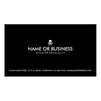 simple skull and crossbones business cards