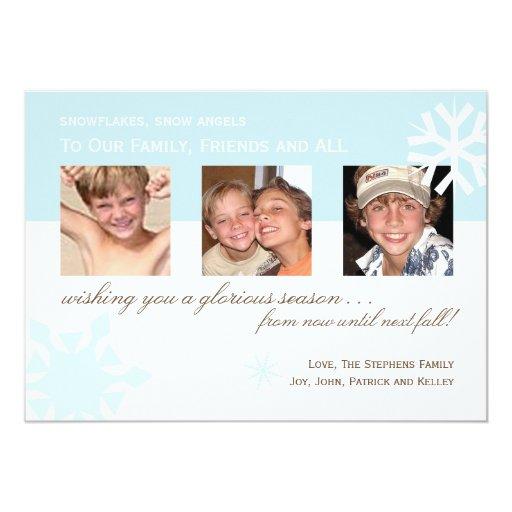 Simple Snowflake Photo Card 13 Cm X 18 Cm Invitation Card