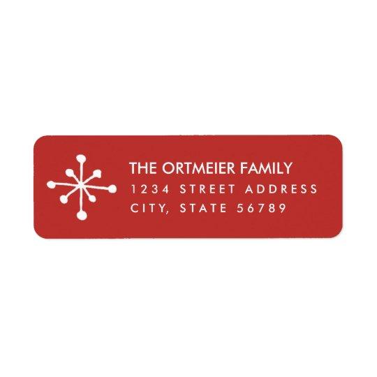 Simple Snowflake Return Address Labels
