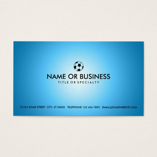 simple soccer business card