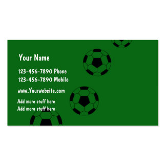 Simple Soccer Theme Pack Of Standard Business Cards