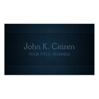 Simple Sophisticated Blue Double-Sided Standard Business Cards (Pack Of 100)