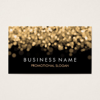 Simple Sparkle Gold Lights Business Card