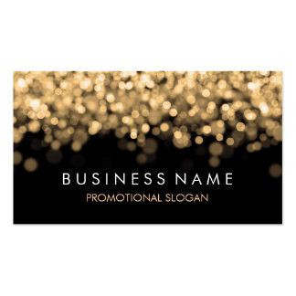 Simple Sparkle Gold Lights Pack Of Standard Business Cards
