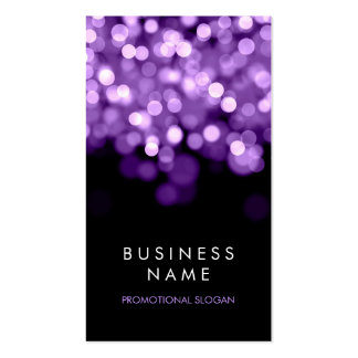 Simple Sparkle Purple Lights Pack Of Standard Business Cards