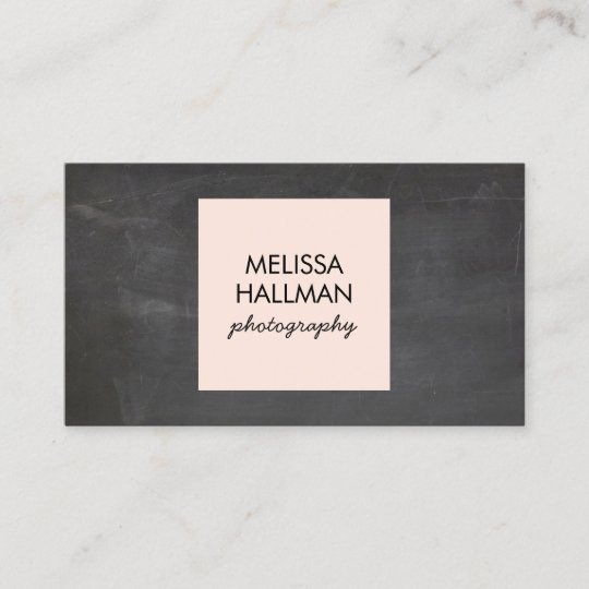Simple square logo on chalkboard for photographers business card simple square logo on chalkboard for photographers business card reheart Images