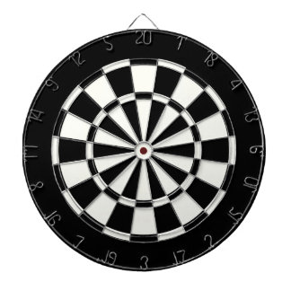 Simple Standard Black And White Dartboard