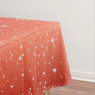 Simple Stars / Red Gradient Background Tablecloth