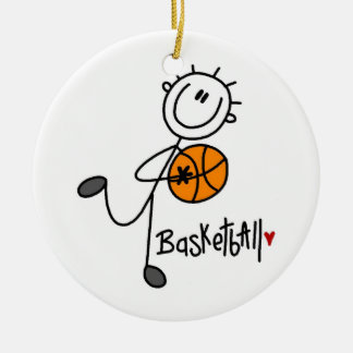Simple Stick Figure Basketball T-shirts and Gifts Christmas Ornament