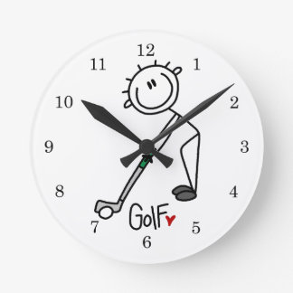 Simple Stick Figure Golfer Clocks
