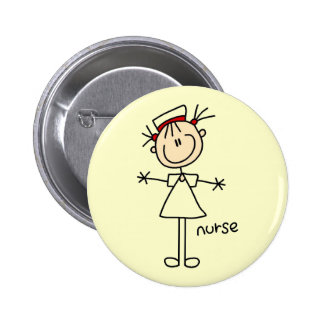 Simple Stick Figure Nurse T-shirts and Gifts 6 Cm Round Badge