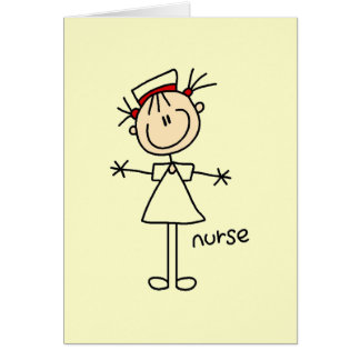 Simple Stick Figure Nurse T-shirts and Gifts Greeting Card