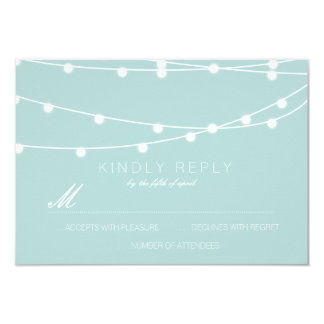 Simple String of Lights Wedding RSVP | Wedding 9 Cm X 13 Cm Invitation Card