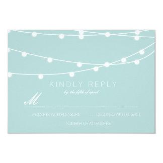 Simple String of Lights Wedding RSVP | Wedding 9 Cm X 13 Cm Invitation Card