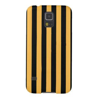 Simple Strip Black Orange Case Galaxy S5 Cases