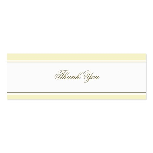 Simple Stripe Buttercream Favor Gift Tag Business Card Templates