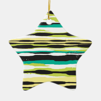 Simple Stripe Ceramic Star Decoration