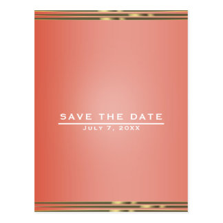 Simple Stripe Chic Elegant Wedding Save the Date Postcard