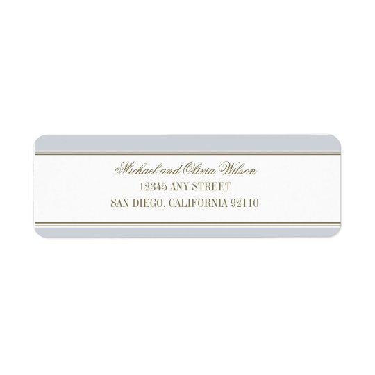 Simple Stripe French Blue Address Label