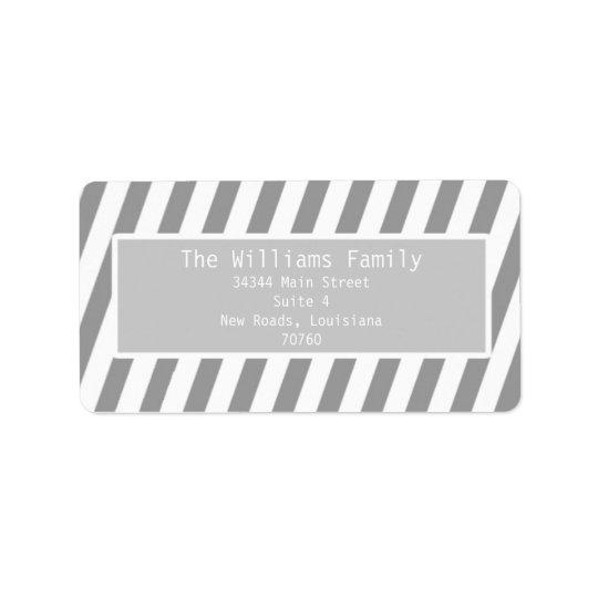 Simple Stripes Address Label