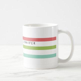 Simple Stripes Personalized Mug