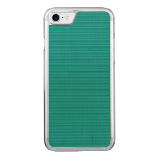 Simple Stripes Textured Look Green Carved iPhone 8/7 Case