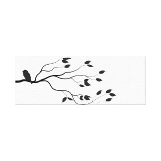 Simple Stylish Black and White Bird Canvas Print