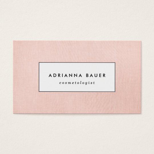 Simple Stylish Blush Pink Faux Linen Beauty Spa