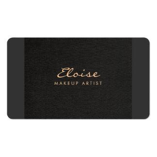 Simple Stylist & Makeup Artist Minimalistic Black Pack Of Standard Business Cards