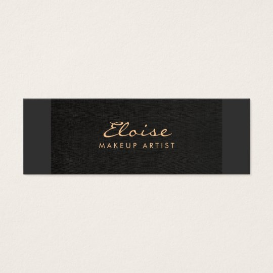 Simple Stylist & Makeup Artist Minimalistic Black Mini Business Card