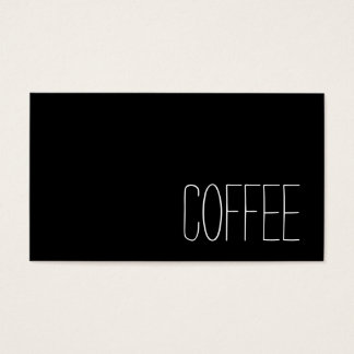 Simple Stymie Word Dark Loyalty Coffee Punch-Card