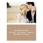 SIMPLE & SWEET-Save the Date Postcard