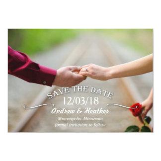 Simple Swirl Wedding Save the Date 13 Cm X 18 Cm Invitation Card