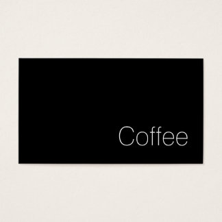 Simple Swiss Dark Loyalty Coffee Punch-Card Business Card