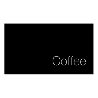 Simple Swiss Dark Loyalty Coffee Punch-Card Pack Of Standard Business Cards