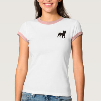 Simple T-shirt with small dog Silhouette