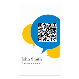 Simple Talk Bubbles Programmer Business Card