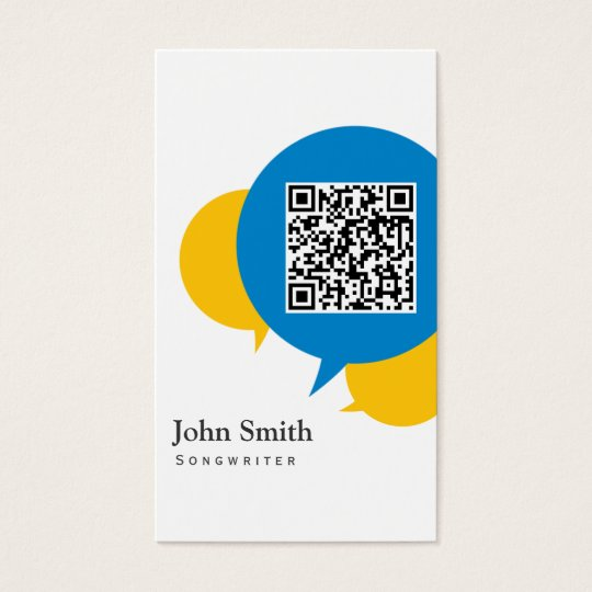Simple Talk Bubbles Songwriter Business Card