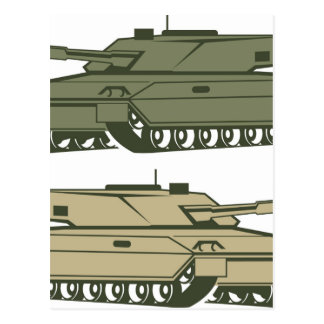 Simple tanks vector postcard