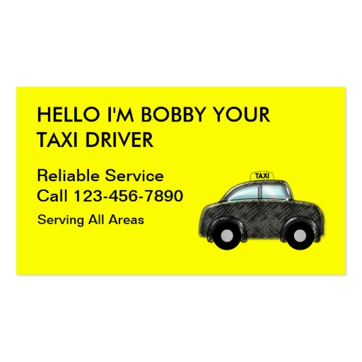 Simple Taxi Business Cards