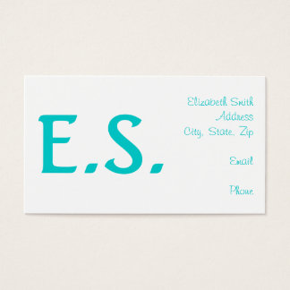 Simple Teal Business Cards - Customize Color