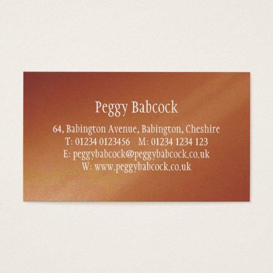 Simple Terracotta Orange Gradient Business Card